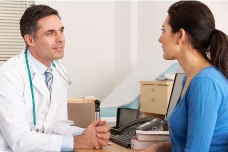 на приеме у врача маммолога
