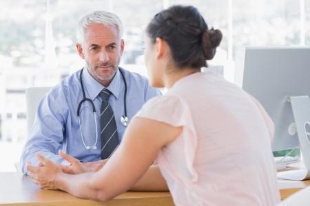 женщина на приеме у врача после мастэктомии